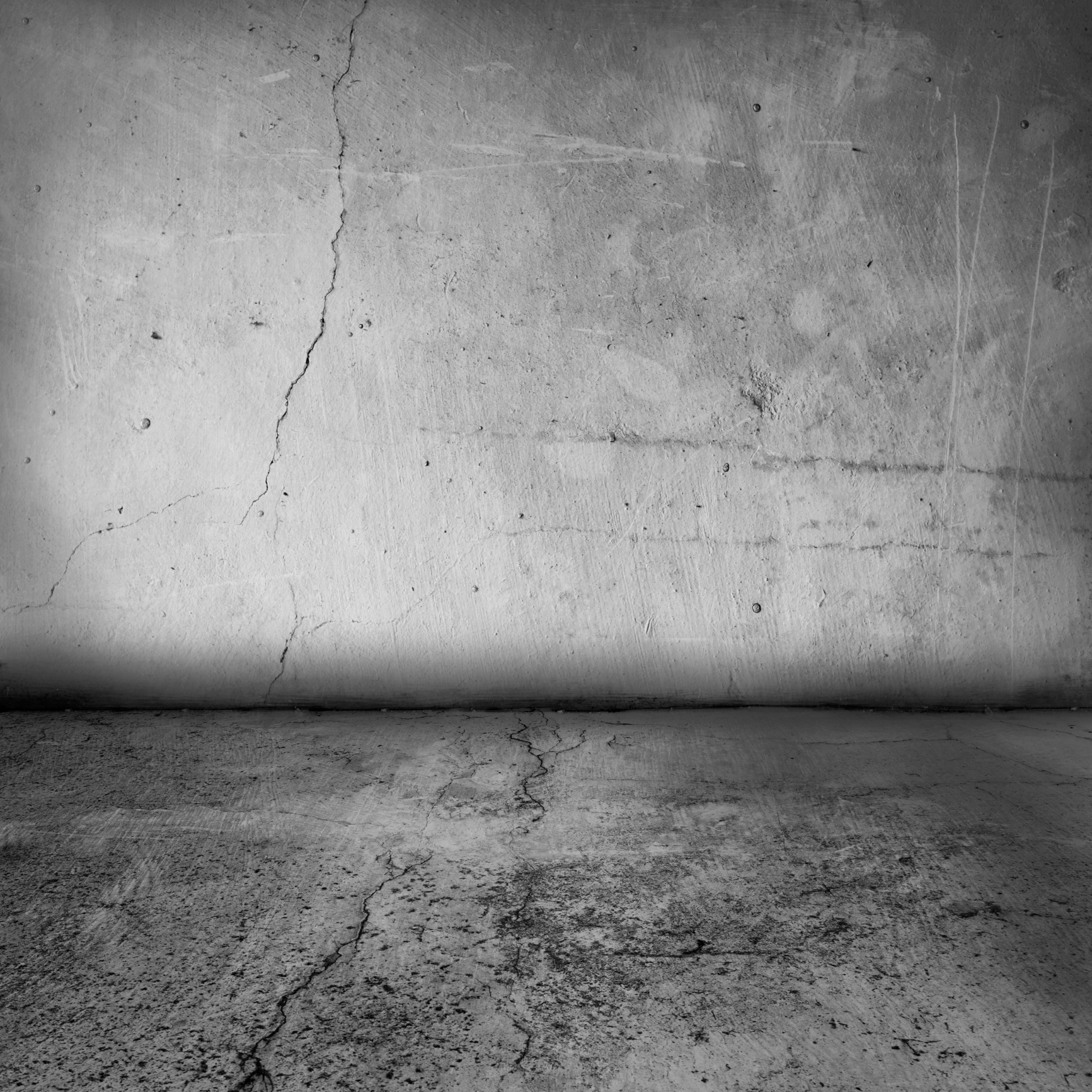 Wall And Floor Concrete With Crack