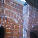gutter ice frozen pipe
