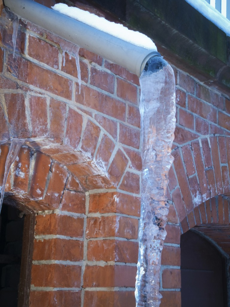 Frozen Downspouts What S Up Doesn T Always Come Down