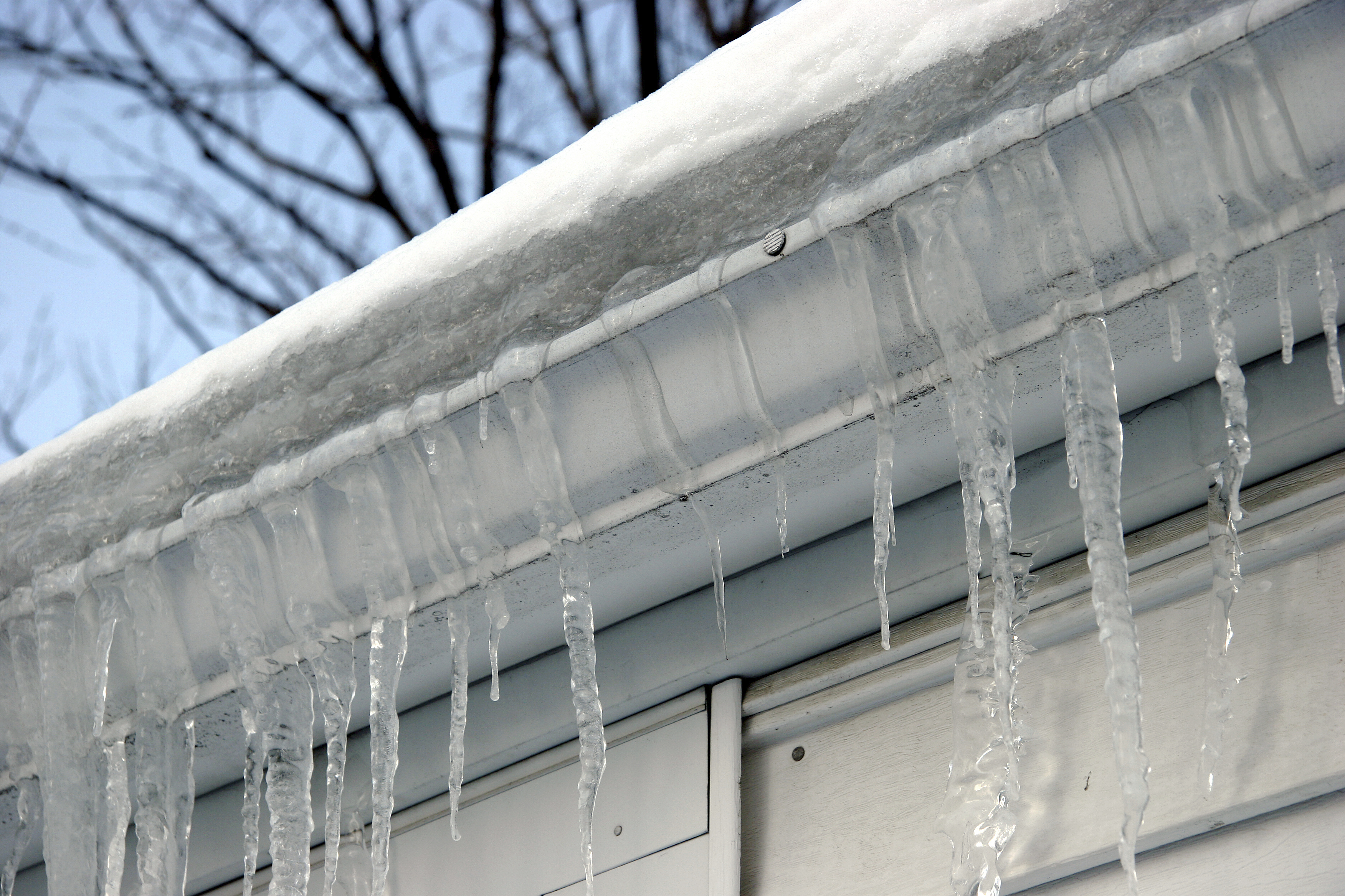 Image result for ice on gutters